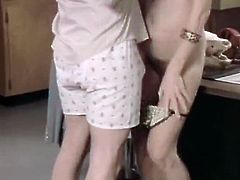Classic Porn Scenes brings you a hell of a free porn video where you can see how this vintage blonde doctor gets banged very hard into a breathtakingly intense orgasm.