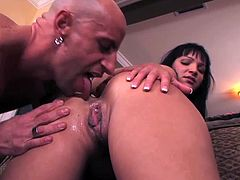 Brooke Lee Adams is ready to have some fun wtih this big dicked and muscled guy. He sticks his schlong deep into her tight pussy and makes her scream so loud.