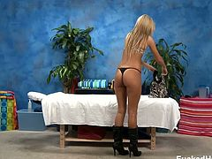 Sweet amateur Nadia Noir having a free oily massage and she got horny as her masseuse started spreading her legs fingering her pussy prompting her to masturbate for a while while she waits for her masseuse to undress.