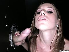 Lizzie Tucker feels intense sexual while giving handjob