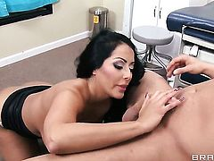 Danny Mountain uses his throbbing ram rod to bring Kiara Mia with big hooters to the edge of nirvana