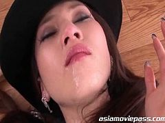 Hot Asian milf getting abused as she takes tons of cum in this sizzling bukkake adventure.