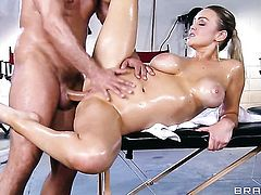 Toni Ribas loves always wet warm fuck hole of Abbey Brooks with big hooters