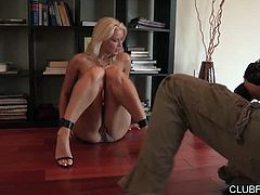 Annika Albrite lets Dana Vespoli give her naked bottom all the attention it deserves, in this 30 minute scene from Dana Vespoli's Lesbian Pussy Worship. The titular brunette gets so excited shooting photos of her sexy blonde costar, she starts rolling around on the floor and finally just can't keep her hands off. Annika's hardly complaining when photography gives way to cunninlingus, and wet, slippery turnabout, on the hard wood floor!