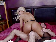 Sexy Spanish hottie Bridgette gets a cock shoved down her throat, while she has her cunt pounded. The hot lady takes it in all hole possible. As she rides hard cock, she gets another pecker shoved in her tight butthole.