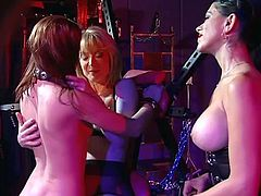 2 mature mistresses take care of their young slave girl