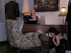 Nobody disrespects the Godmother and Sophie Lynx is here because of her longing punishment disobeying the rules. So she asks for two guys and give her the most hardcore sex she'll ever hard