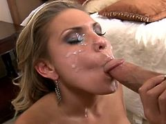 In this compilation the best and hottest babes get cum sprayed all over their pretty faces, by the legendary Peter North. A cute blonde gets a jizz load and then, two hotties take cum together. Finally, a hot ebony slut is sprayed.
