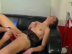 Smut Sabrina sometimes wants to gag? when sperm is shot inside her throats depth, A shot tickles her tongue and A next loads disappear inside her greedy mouth there?s only 1 possible relieve: Instant swallowing and yawning for breath? A next shooters are ready!