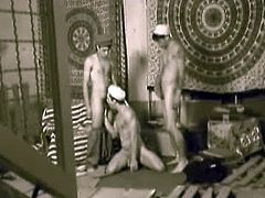 Arab boys in wet anal threesome encounter in sepia as they bring you back in time. Enjoy smooth young arab stud pleasures two hunky studs before getting fucked.