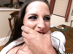 Kortney Kane with big jugs gets orally fucked by Keiran Lee s beefy mouth stretcher