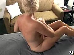 Real Tampa Swingers brings you a hell of a free porn video where you can see how this naughty blonde milf gets her sexy body massaged while assuming hot poses.