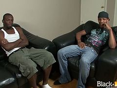 Wank This brings you a hell of a free porn video where you can see how this ebony hunk barebacks his lover's tight black ass into a massively intense orgasm.