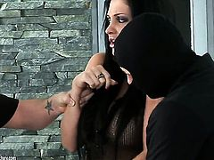 Aletta Ocean with gigantic hooters takes dudes cum loaded boner in her hot mouth