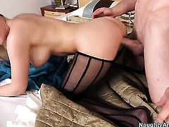 Tristyn Kennedy with massive melons gives unthinkable sexual pleasure to hard dicked dude Jordan Ash