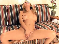 Ashlynn Brooke makes her sexual fantasies come true in solo action