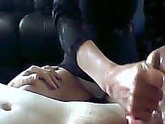 Amateur video of Homemade handjob video