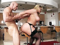 Sarah Vandella loves to suck and cant say No to horny dude Johnny Sins