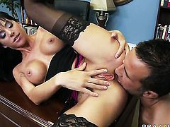 Keiran Lee gets pleasure from fucking incredibly sexy Gia Dimarcos back porch