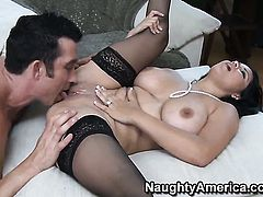 Billy Glide attacks amazingly hot Sophia LomeliS bush with his love torpedo