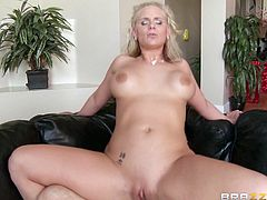 Chubby blond MILF Phoenix Marie gets her button hole polished in doggy pose hard