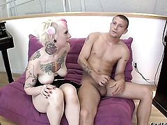 Mr. Pete plays with sexy asshole of Misti Dawn after he bangs her hard