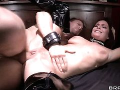 Ashley Graham plays with Erik Everhards rock solid fuck stick