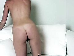 Marie McCray opens her legs to fuck herself, take dildo in her dripping wet muff pie