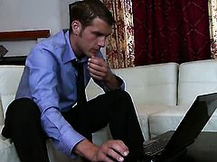 Krissy Lynn with gigantic boobs and clean bush gets some in steamy sex scene