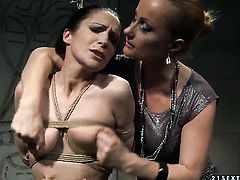 Mature Katy Parker with gigantic tits enjoys another lesbian sex session with her lover Carrmen