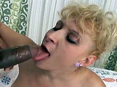 In the white ghetto visitors may find slutty milfs, like Chiara, who are just craving for dick. The naked bitch with big tits has been waiting impatiently the arrival of a big black cock. Dare to click and see her sucking cock with greed. Enjoy!