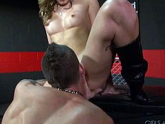 This is a femdom fuck scene with Tyler Torro and Katie Summers pounding hardcore doggystyle in orgasm.
