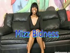 Ghetto Gaggers brings you very intense free porn video where you can see how the ebony slut Mizz Bidness gets her throat banged hard while assuming hot positions.
