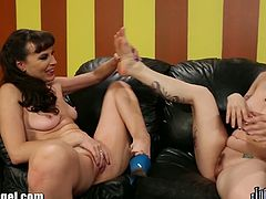 Joanna Angel invited her friend for a casual lesbian making out and fortunately she agrees as she known for having a foot fetish. Together they are having a sweet lesbian sex with footjobs and sucking toes.