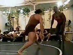 Female Bodybuilders Wrestling