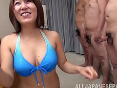 Immaculate Japanese milfgets a facial creampie after giving an orgasmic blowjob