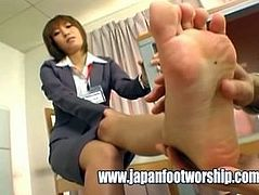 Foot Fetish - Suck company's staff toes
