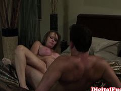 Digital Playground brings you very intense free porn video where you can see how this busty blonde milf Dyanna Lauren gets banged hard and deep into a massively intense orgasm.