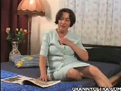 Never thought this granny would still go down for a teasing stint here as she removes her clothes and shockingly reveal her huge natural titties for the GILF lovers out there.