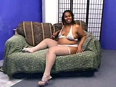 ExpoSing her plump body, this chubby EBony nymph Shines about happiness, finally got shown on that dude tv inside the explicit video.