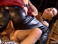 Mouthwatering brunette Rita Neri bends over and sucks cock and gets her twat finger fucked. Before you know it she' on her knees, cowgirl style getting both hole penetrated at the same time! She ends up her perfect face drenched with jizz.