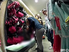 Two young girls go shoping and end the day sharing a dick.