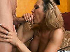 Brandi Love with massive jugs having sensual sex with hard dicked dude Jordan Ash
