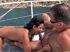 Sunrise Kings brings you very intense free porn video where you can see how this naughty brunette rides a hard cock on a yacht while assuming very hot positions.