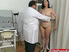 Old Pussy Exam brings you a hell of a free porn video where you can see how this wild mature brunette gets her cunt examined by the doctor while assuming naughty positions.