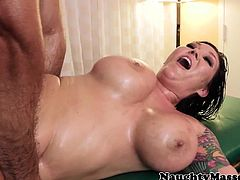 Oily Claire Dames loves rough massage drilling