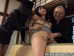 Master and mistress share a silly slave