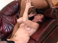 There is no time to waste all for the love of hot jizz as this red haired cum starving momma gives her all fucking hard at 50.