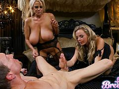 This is a hot threesome fuck and blowjob scene with a horny hottie sucking a hot cock and gets her pussy screwed hardcore.