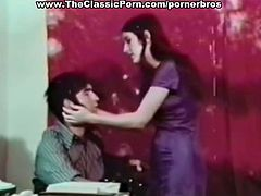 Vintage porn footage with hot 70s chicks and their hairy muffins fucked by the teacher they crave good cock.